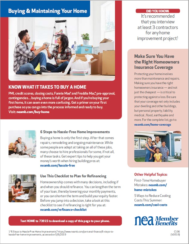 HCEA Member Benefits Buying and Maintaining Your Home