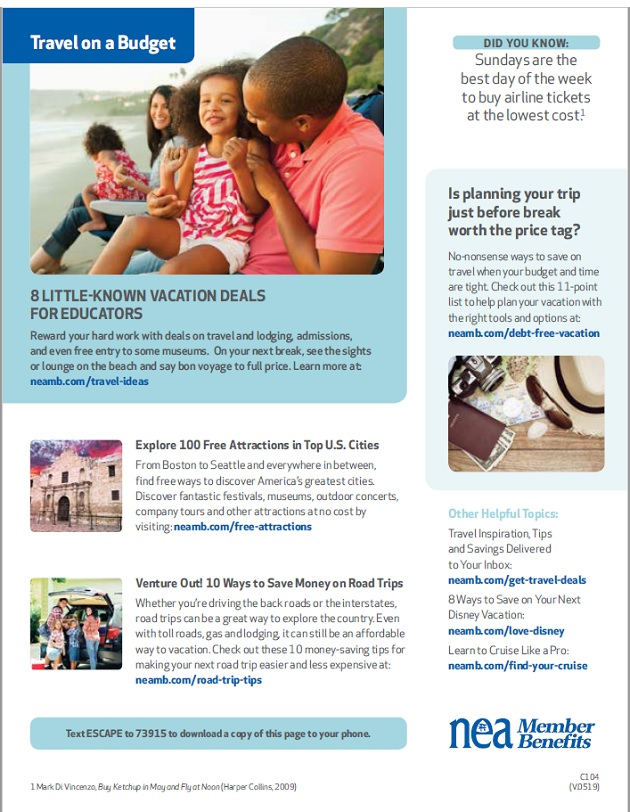 HCEA Member Benefits Travel on a Budget